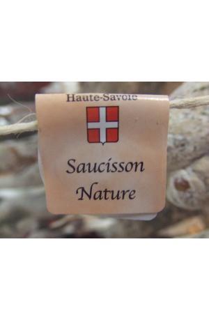 Saucisson sec pur porc de Savoie nature