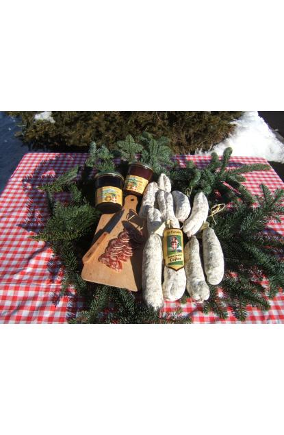 Dried sausage of Savoie(Savoy) in Ceps