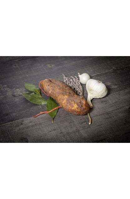 Saucisson sec pur porc de Savoie fumé au bois de hêtre