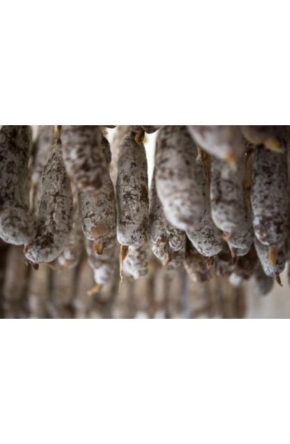 Dried sausage of Savoie(Savoy) in Ceps